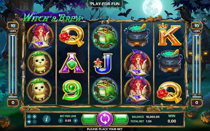 Simbol dan fitur unik Slot Witch's Brew